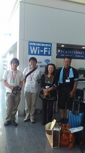 世界大会に出発2013